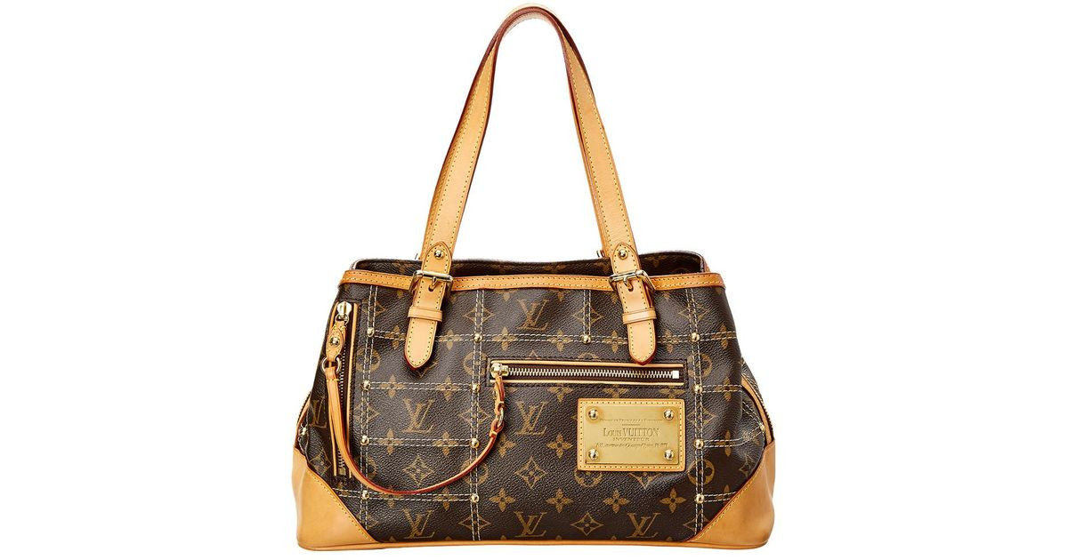 b6f5e072d1a6 Louis Vuitton Limited Edition Monogram Canvas Riveting in Brown - Lyst