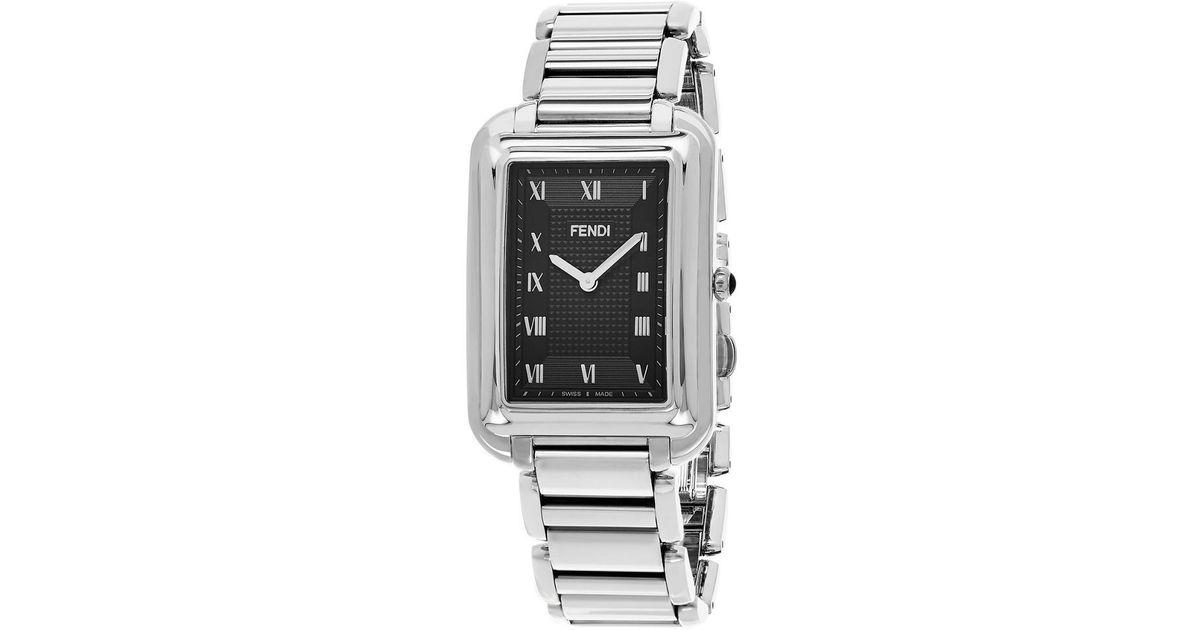 275e2a8d8834 Lyst - Fendi  classico Rectangle  Black Dial Watch for Men