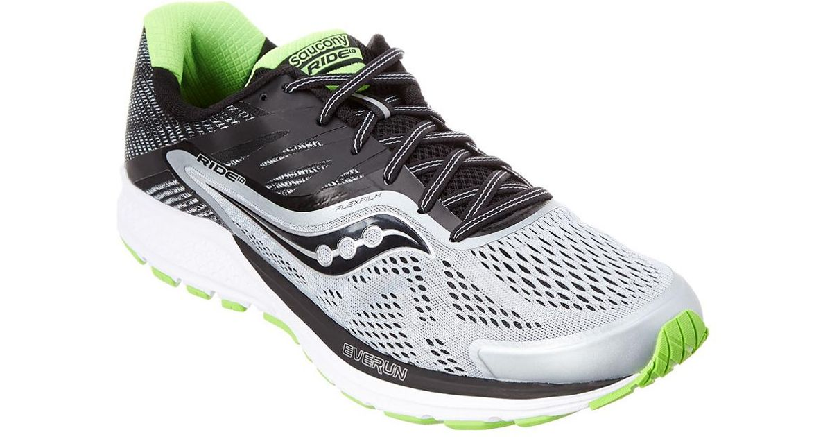 Ride Running 10 shoesGre Men's Saucony 54q3ALRj