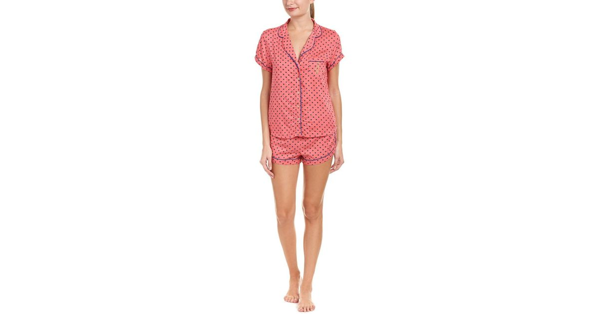 dd2ce7cf3aed Lyst - Juicy Couture Black Label 2pc Pajama Short Set in Pink