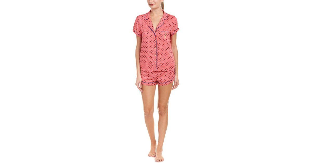 bd23320c1de Lyst - Juicy Couture Black Label 2pc Pajama Short Set in Pink