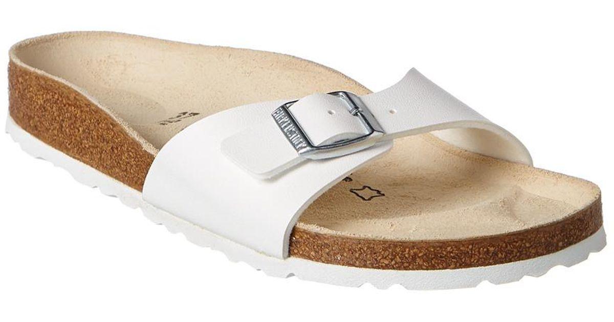 9bce35e8aec Lyst - Birkenstock Madrid Birko-flor Leather Narrow Sandal in White