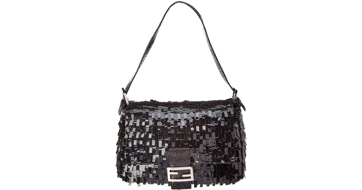 90177395d0 czech fendi limited edition black acrylic mamma shoulder bag in black lyst  ca398 30733