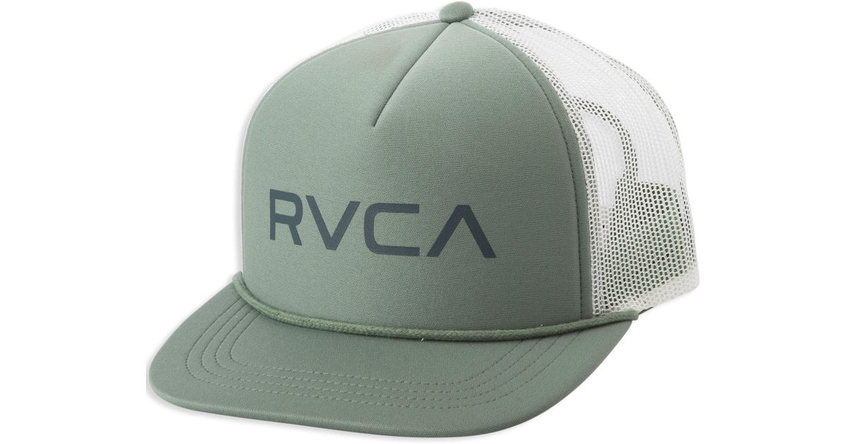 9118757b7aaeb4 RVCA Foamy Trucker Hat in Green for Men - Lyst