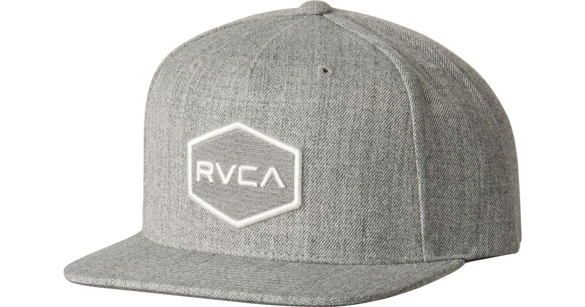 super popular 50825 18f93 Lyst - RVCA Commonwealth Snapback Ii Hat in Gray for Men
