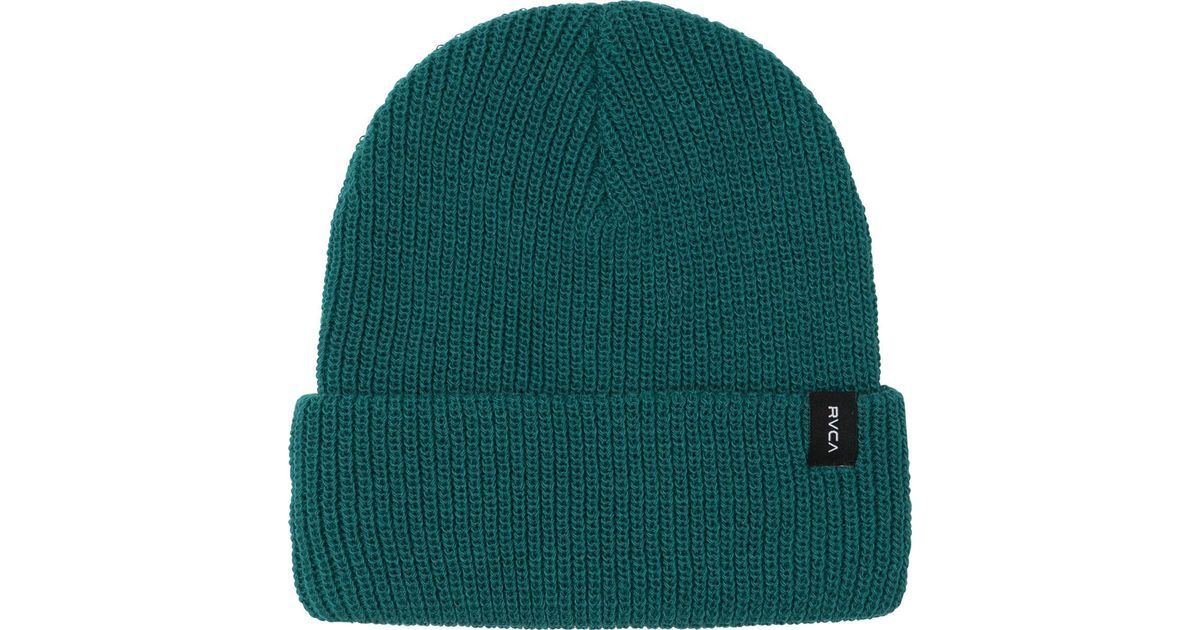 3629c2cab06 Lyst - Rvca Towne Knit Beanie in Green for Men