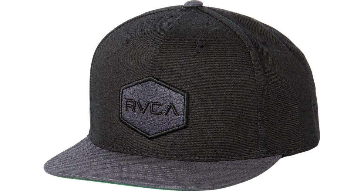 low priced 703f9 fc6b0 ... purchase lyst rvca commonwealth snapback ii hat in black for men 53399  b37a4