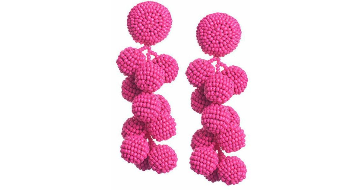 Sachin & Babi Coconuts earrings - Pink & Purple vOJlWHqRs