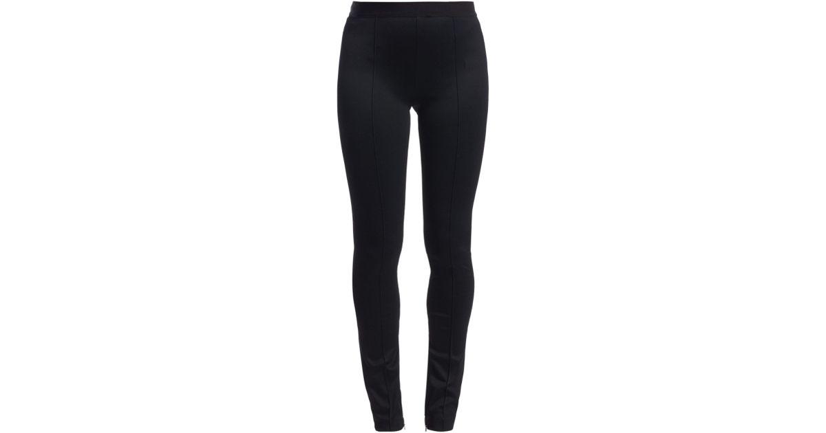 01ec509e2f5b16 Helmut Lang Women's Double Needle Rib-knit Leggings - Black in Black - Lyst