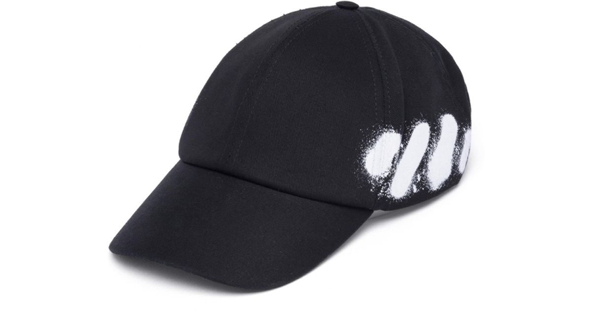 8b2d45af52b Lyst - Off-White c o Virgil Abloh Diag Spray Cap in Black for Men