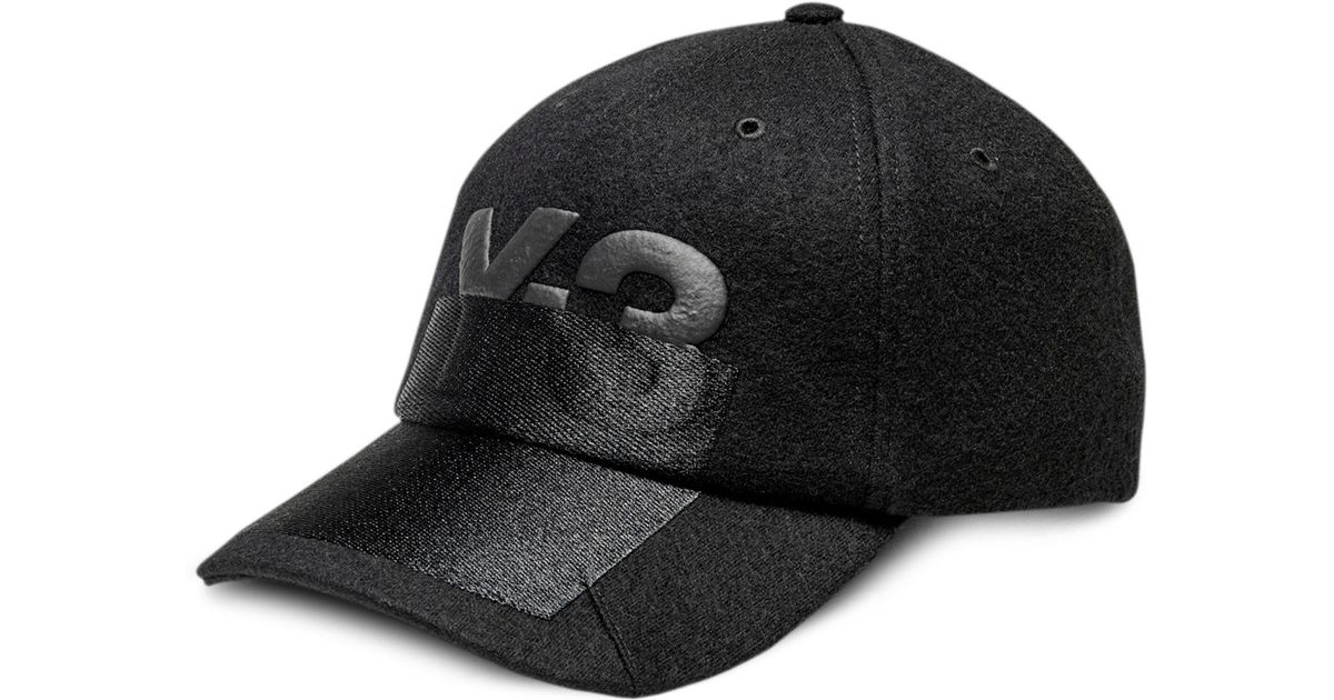 Lyst - Y-3 X-ray Logo Wool Cap in Black for Men cbca1881858