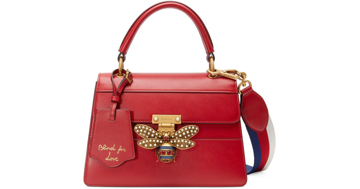1911ceeb2 Gucci Queen Margaret Small Top Handle Bag in Red - Lyst