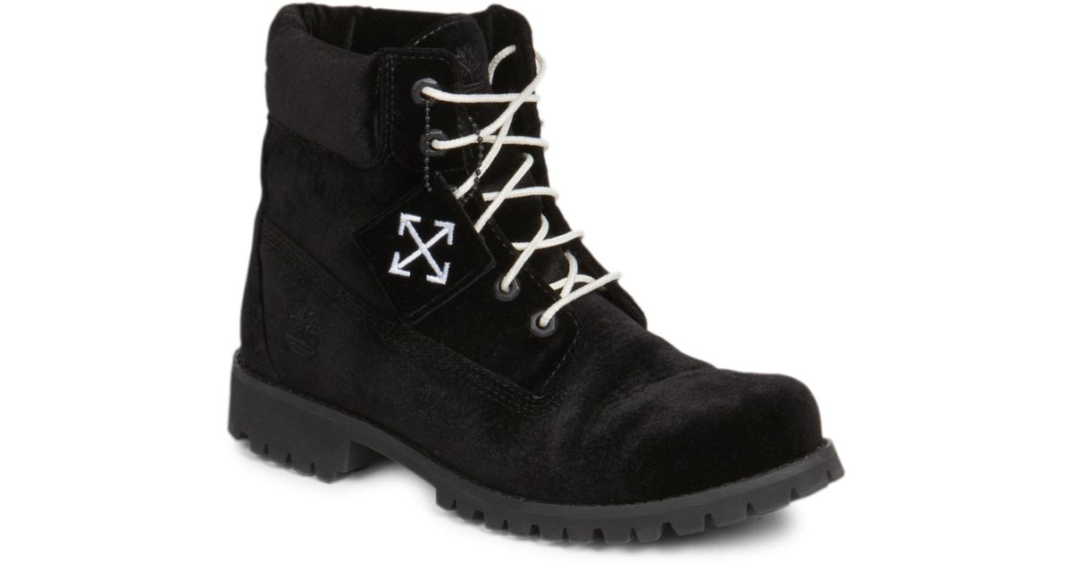 d16b859cea90 Lyst - Off-White c o Virgil Abloh Men s Timberland Leather Lace-up Boots in  Black