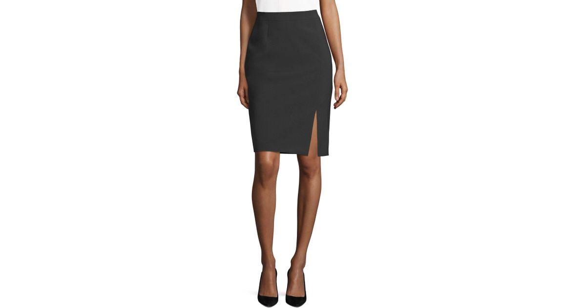 17b41292b1 BOSS Violina Stretch Pencil Skirt in Black - Lyst