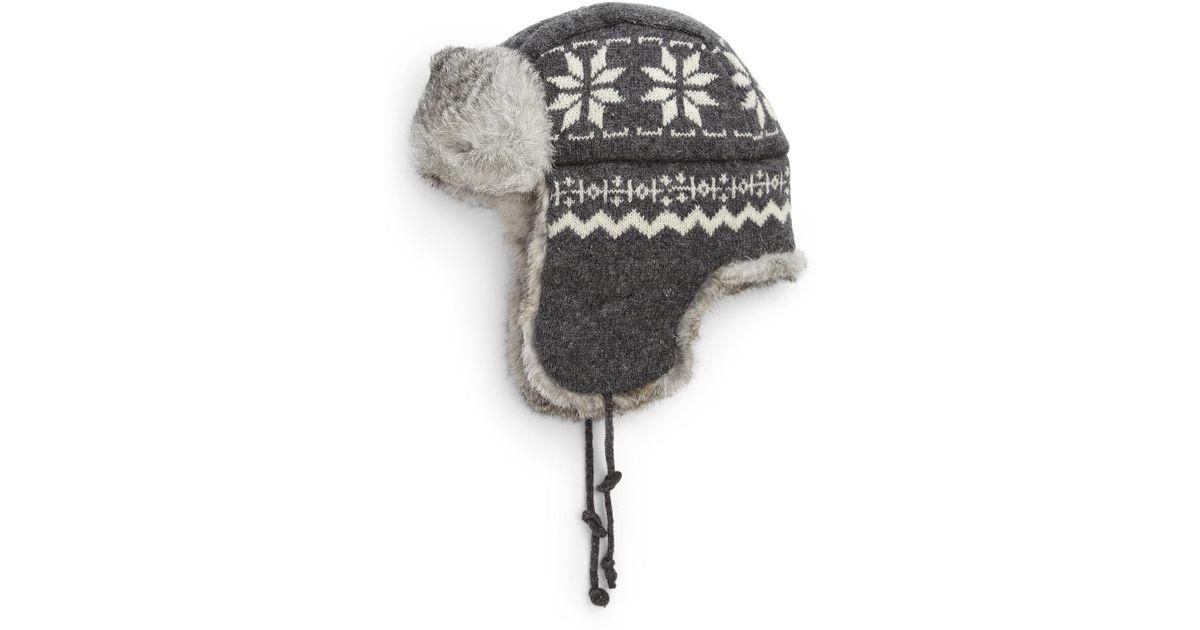 7653dbff9f8 Crown Cap Snowflake Aviator Hat in Gray for Men - Lyst