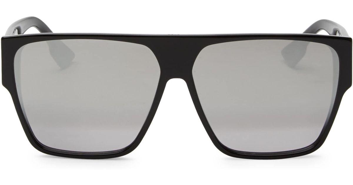 8562d116b860 Dior 62mm Hit Flat Top Sunglasses in Black - Lyst