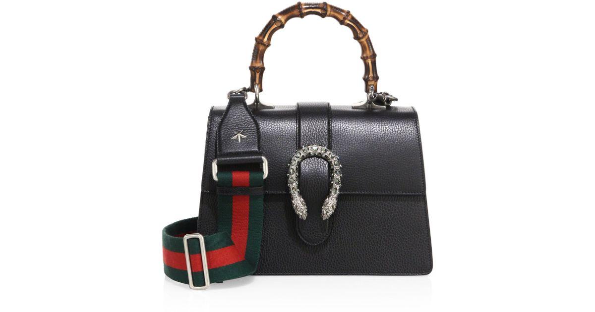 8df3b20842e Gucci Women's Dionysus Medium Top Handle Bag - Blue in Black - Lyst