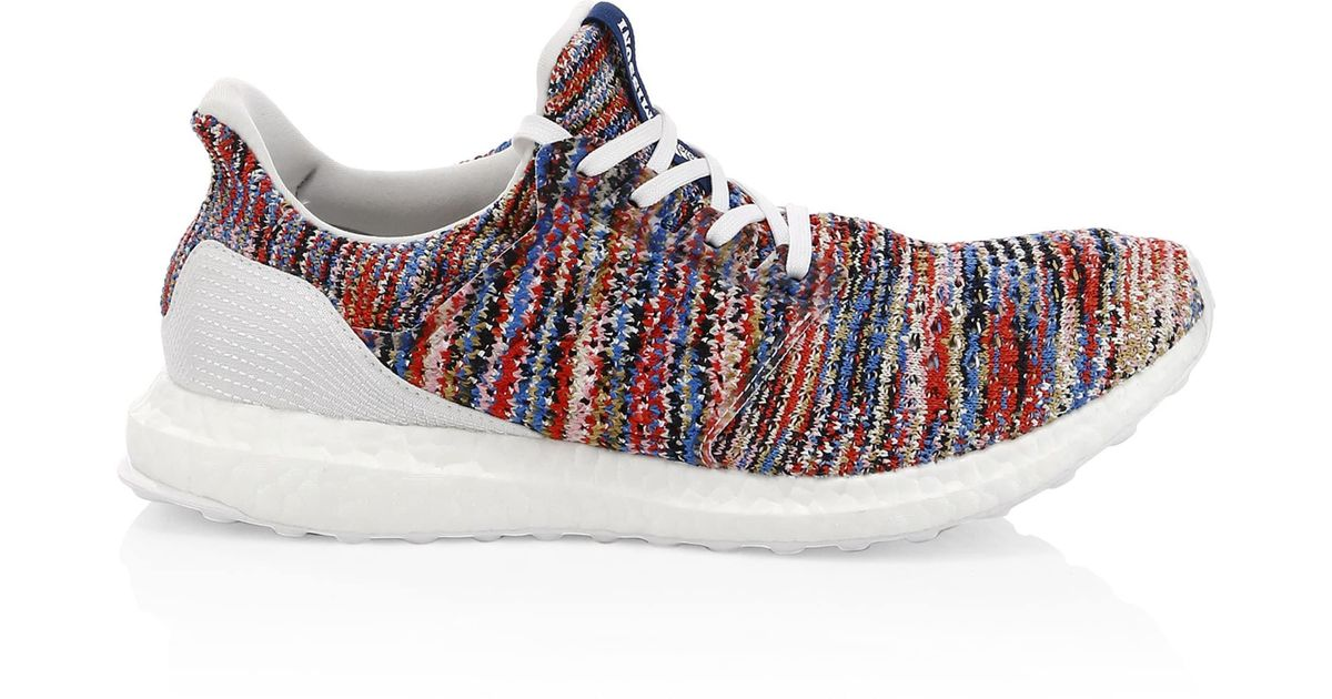 82cfd5036 adidas By Raf Simons Men s Ultraboost Clima X Missoni Knit Runners - White  Multi - Size 4 for Men - Lyst