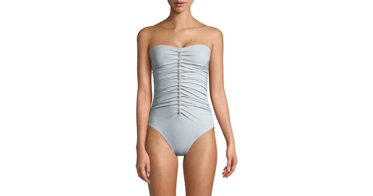 3485311a0ed Karla Colletto Amma One-piece Swimsuit in Blue - Lyst