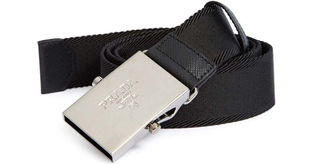 ... germany lyst prada logo nylon belt for men 05a05 fcf85 70973abf1a8b9