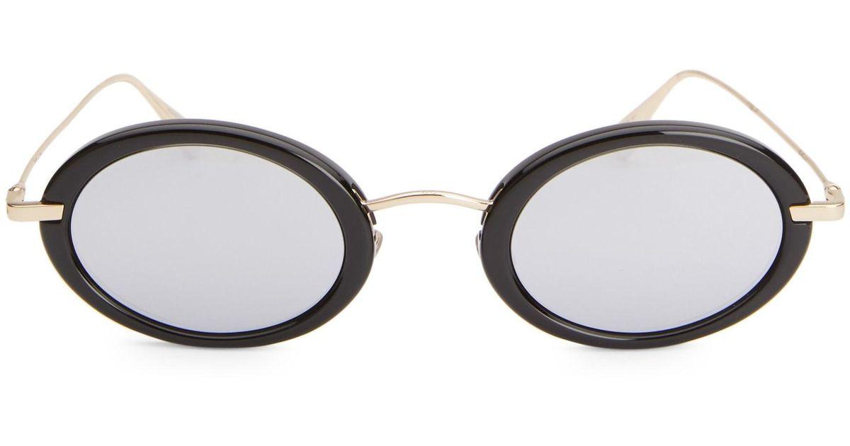ad34da56768 Lyst - Dior Women s Hypnotic 2 46mm Oval Sunglasses - Black Gold in Metallic
