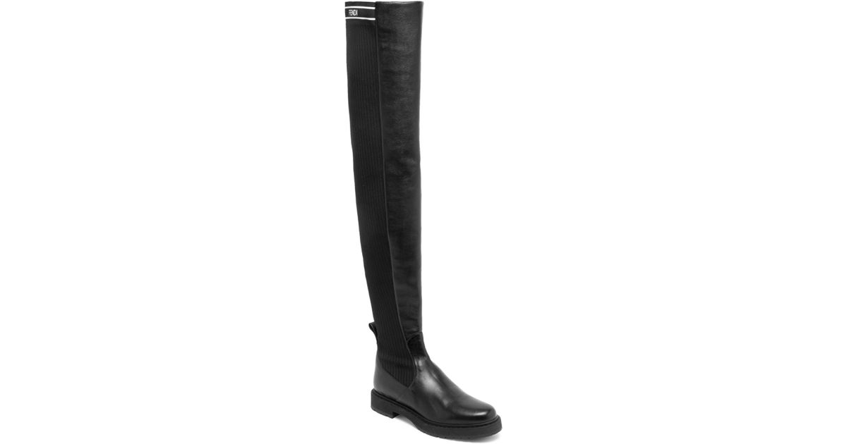 063a0ca77ff Lyst - Fendi Rockoko Over-the Knee Boots in Black