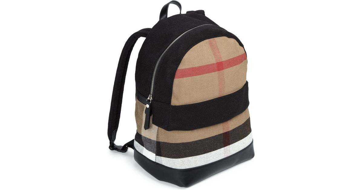 Burberry Kid s Tiller Backpack in Black - Lyst 4f2bb42c6f214