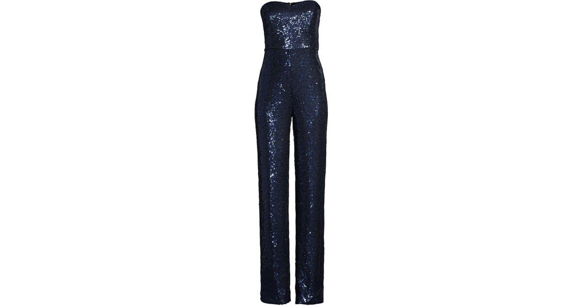 32e1188e3e Lyst - Saloni Aurelie Jumpsuit in Blue - Save 61%