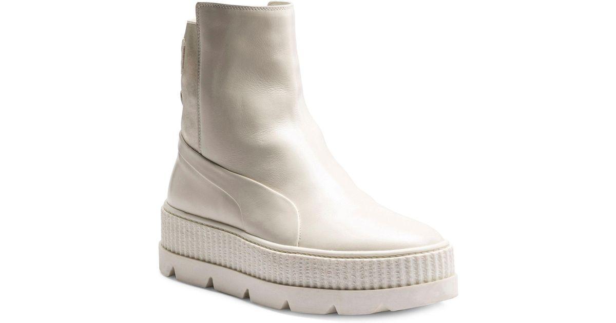 3b455cc0c341 ... denmark puma leather chelsea sneaker boots in white lyst 74d39 54aea