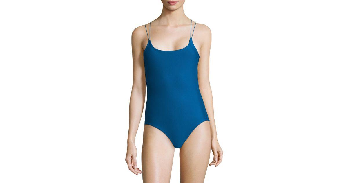 19bda164f7054 Mikoh Swimwear Kilauea Maillot in Blue - Lyst