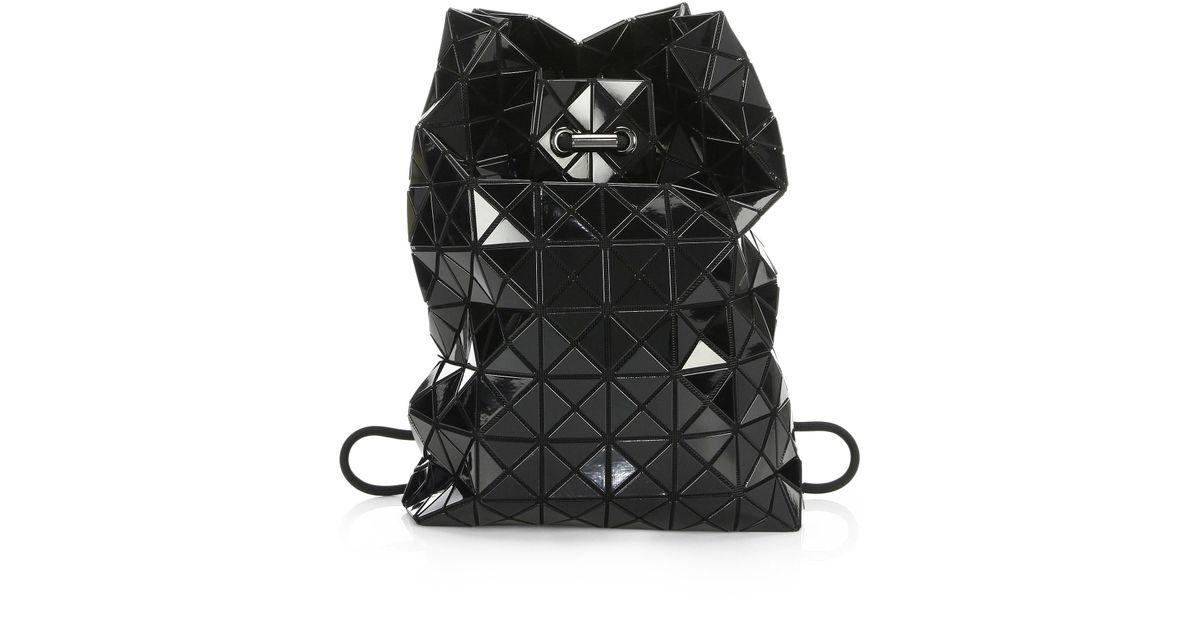 Bao Bao Issey Miyake Women s Geometric Wring Backpack - Black in Black -  Lyst e6e861ff46654