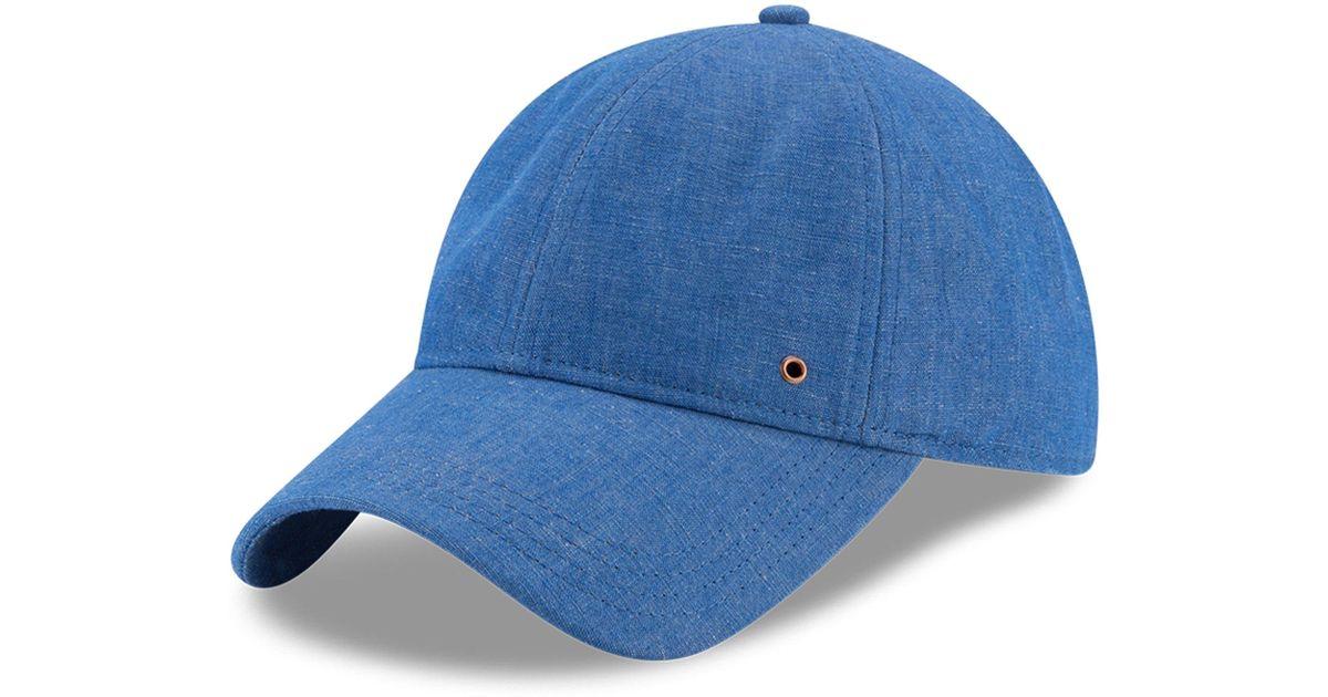 e16b663950f Ktz Cotton Baseball Cap in Blue for Men - Lyst