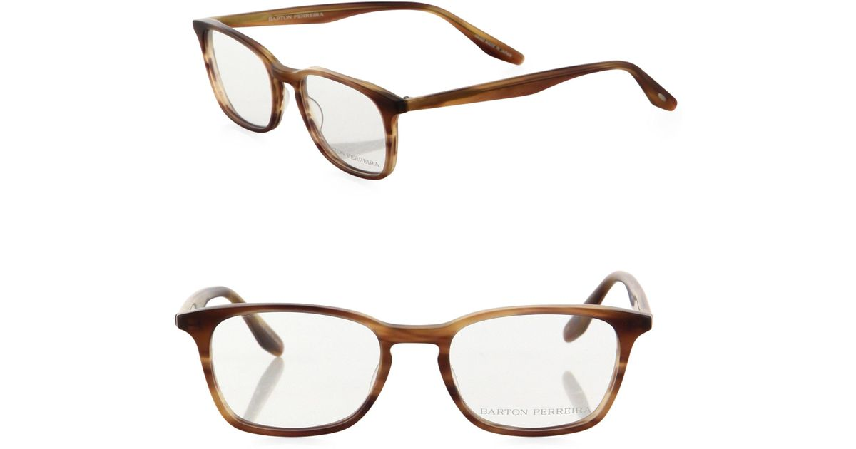 3a7a73b263a Lyst - Barton Perreira Timothy 49mm Rectangular Eyeglasses for Men