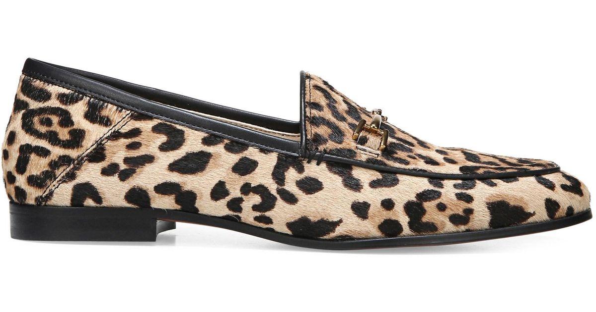 be9c3996b8b Lyst - Sam Edelman Lorraine Leopard Print Calf Hair Loafers in Brown