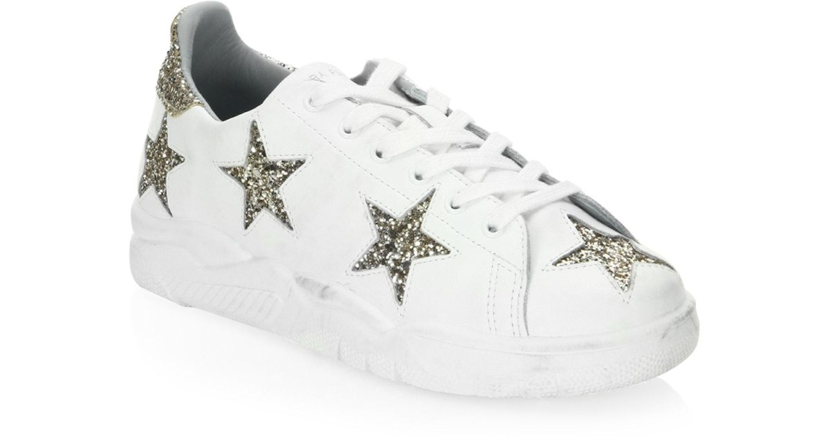 Chiara Ferragni Leather Low-Top Sneakers best JE5s3QUu
