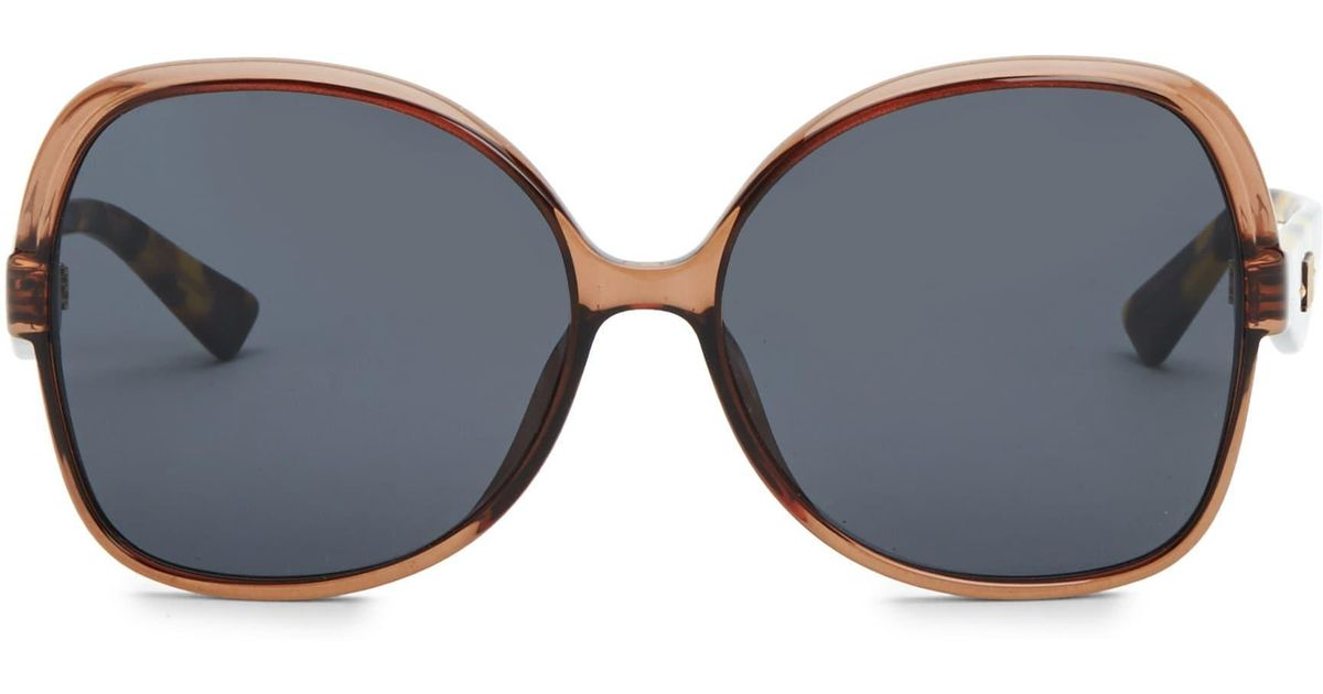 67eba72eab Lyst - Dior 60mm Nuance Square Sunglasses in Brown