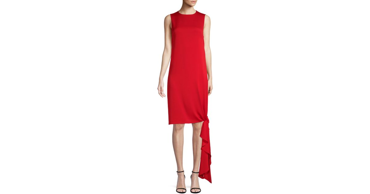 2c51ef69 MILLY Women's Stretch Silk Chiara Shift Dress - Ruby Red - Size 0 in Red -  Lyst