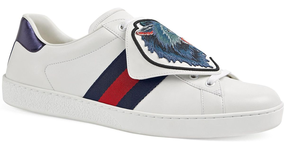 ce79d569b81 Gucci  ace  Sneakers in White for Men - Save 11% - Lyst
