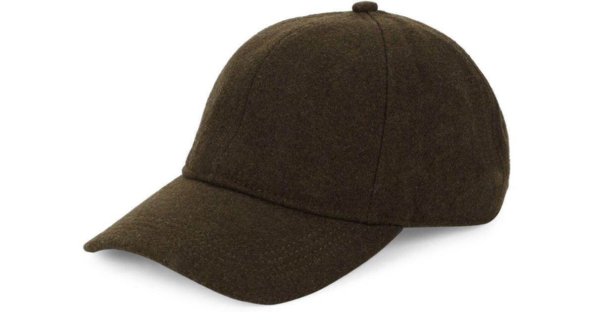 75bf41adeaa Barbour Coopworth Wool-blend Baseball Cap in Green for Men - Lyst