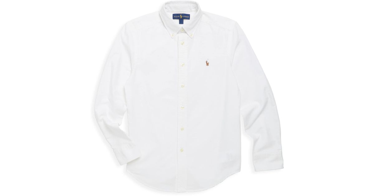 6ca912595 Lyst - Ralph Lauren Little Boy s   Boy s Oxford Cotton Button-down Sport  Shirt in White for Men