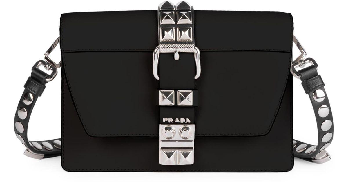 6edfbab933c4 Prada Small Elektra Crossbody Bag in Black - Lyst