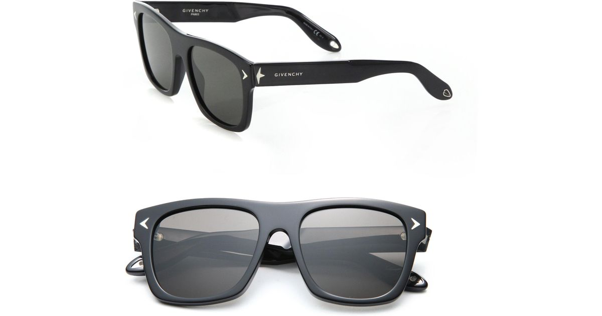 7e3c2e47c951 Givenchy 55mm Star-detail Square Sunglasses in Black - Lyst