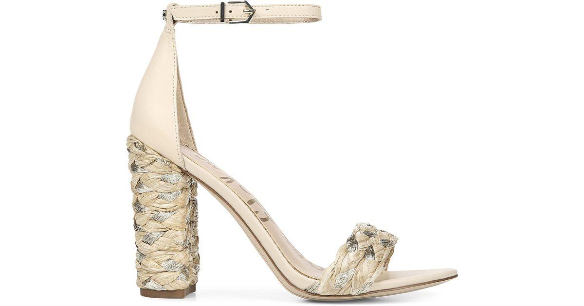 Yoana Sandals Leatheramp; Sam Edelman Natural Raffia 43j5ARL
