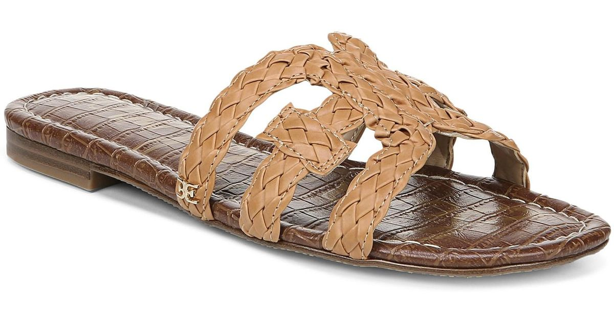 4fd9ec5ed Lyst - Sam Edelman Beckie Woven Leather Sandals