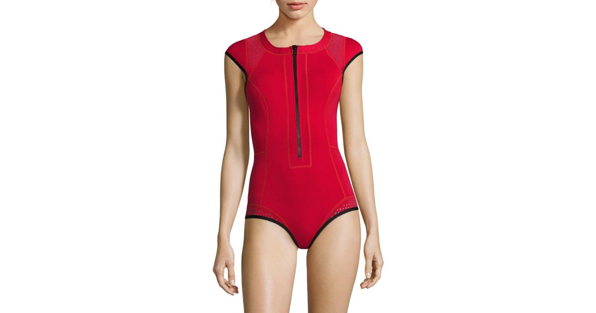 ae39ff925e Duskii Oasis One-piece Spring Swimsuit in Red - Lyst