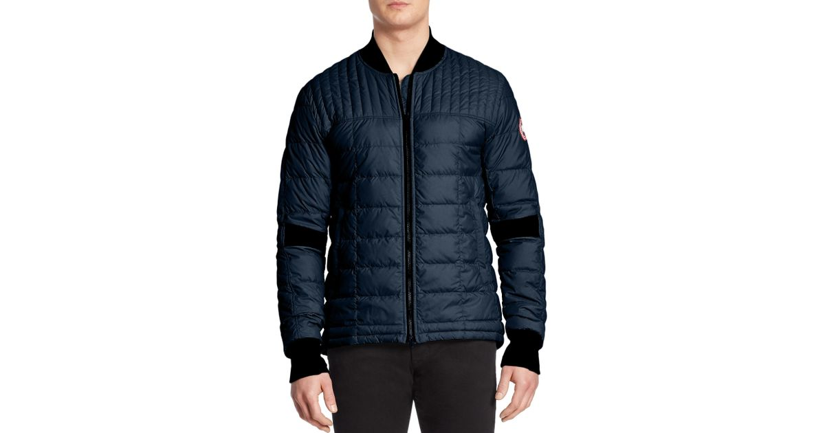 5e48b7b3cd513 ... new arrivals hooded down jacket canada goose dunham down jacket in blue  for men lyst canada