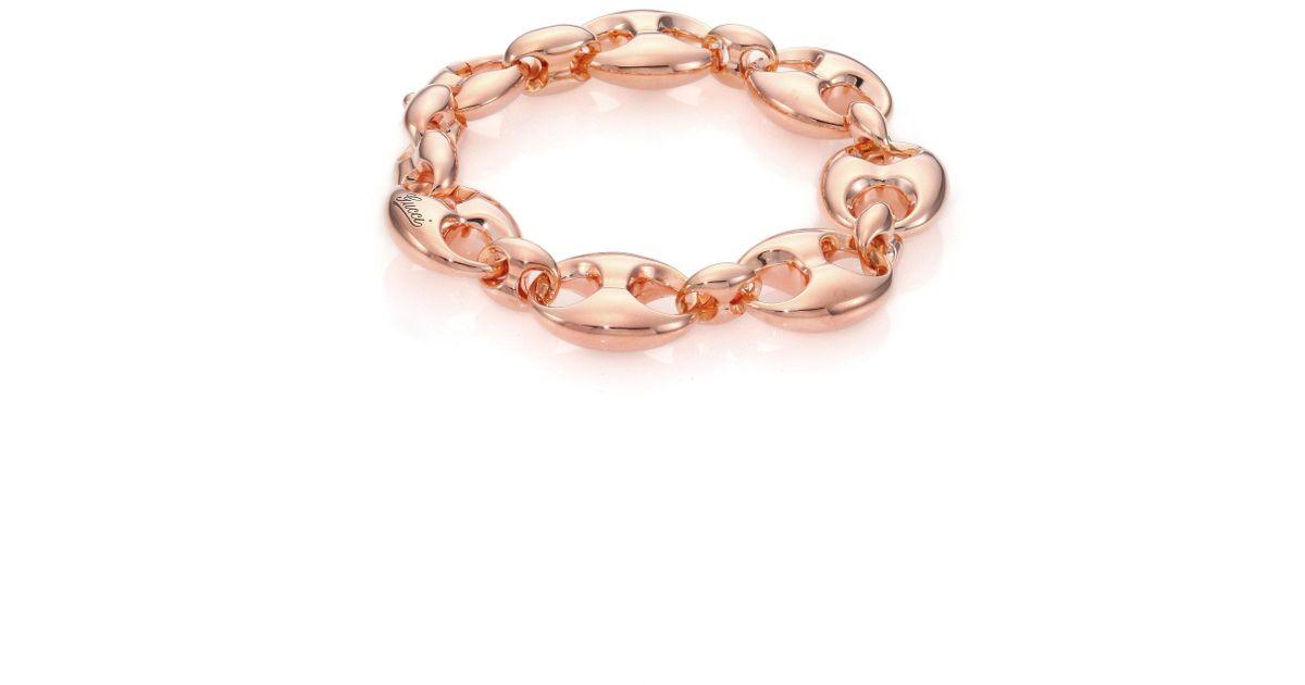 9288bfea1 Gucci Marina Chain 18k Rose Gold Link Bracelet in Metallic - Lyst