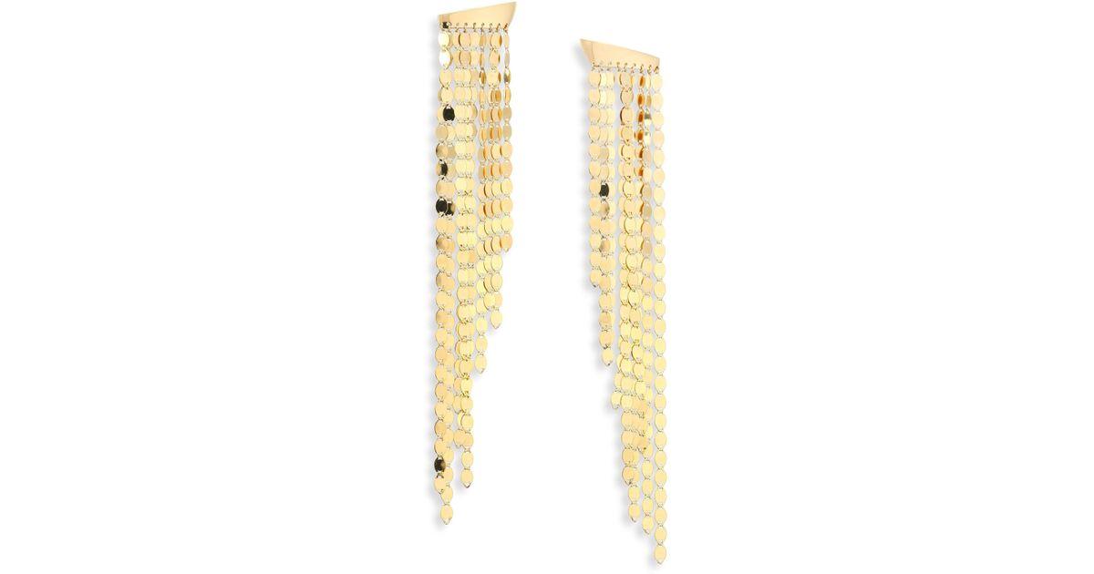 Lana Jewelry Large Nude Disc Fringe Earrings ADJcgwy