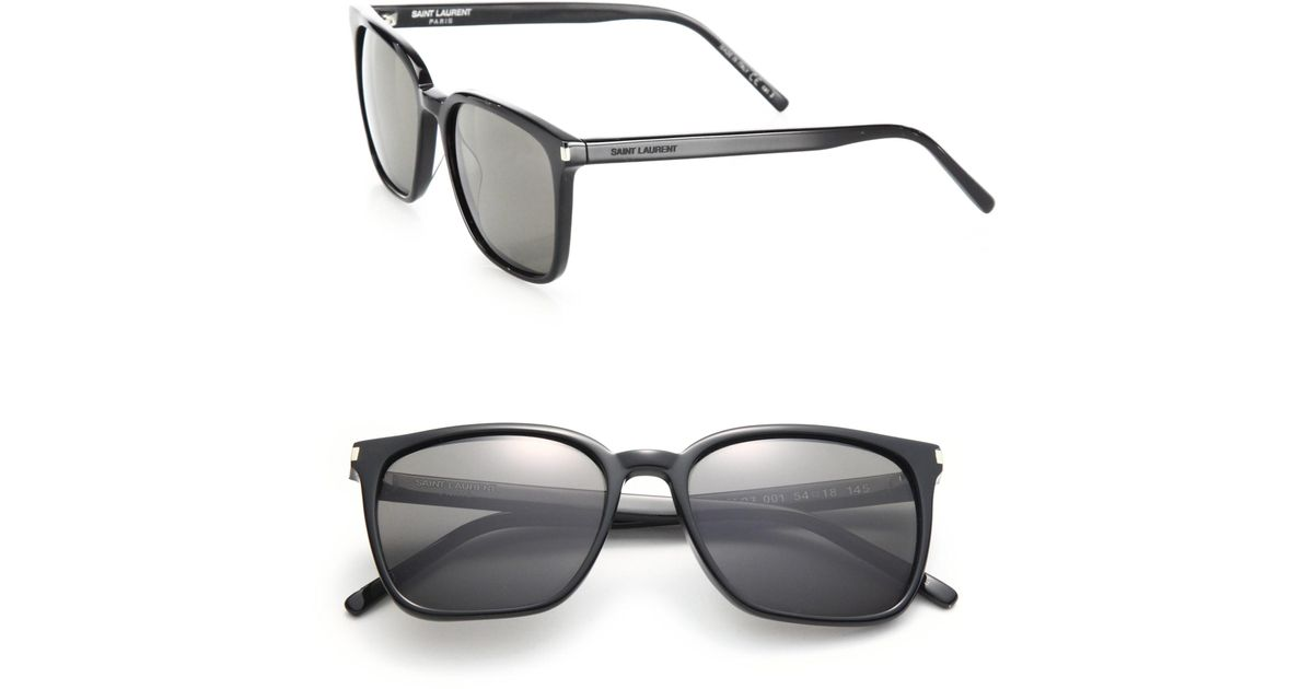 307ca27db1f1 Saint Laurent Women's Sl 93 Thin Square Sunglasses - Black Smoke in Black -  Lyst