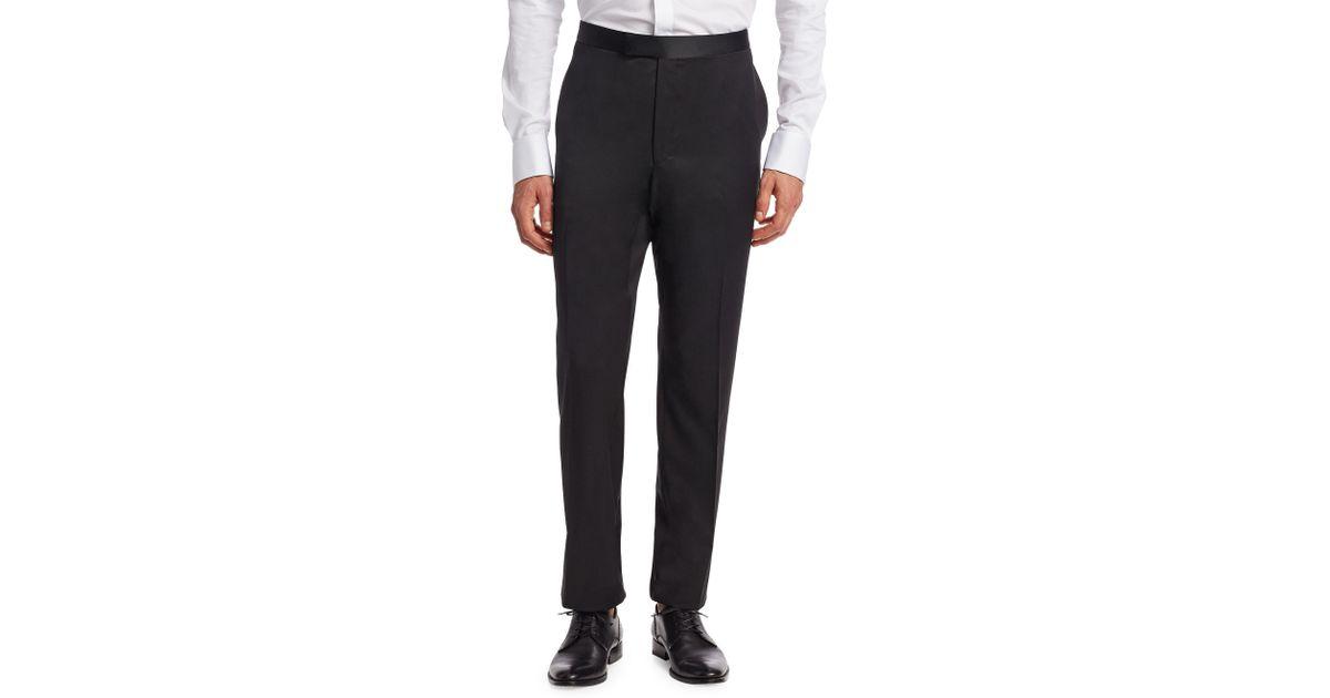 Lyst - Saks Fifth Avenue Formal Wool Trousers in Black for Men